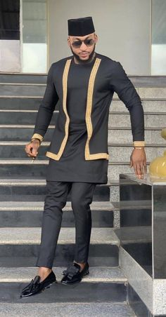 African men's clothing / African fashion / wedding suit / dashiki / African men's shirt / African clothing / shirt and pants / African Wear Styles For Men, African Shirts For Men, African Dresses Men, African Attire For Men, African Clothing For Men, African Style, Indian Style, African Male Suits, African Wedding Attire