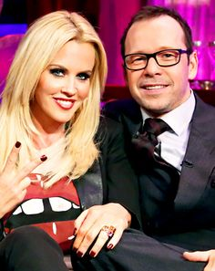 Love in the Wild host Jenny McCarthy and New Kids on the Block singer Donnie Wahlberg are Hollywood's latest coupling, a source tells Us Jenny Mccartney, Celebrity Couples, Celebrity News, Donnie And Jenny, Couple Presents, Donnie Wahlberg, Marriage Vows, Celebs, Celebrities