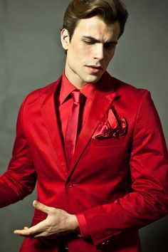 Power of the red suit my oh my pinterest prom mens fashion mensfashionworld bruno piedade by davide de olalde monochromatic red suit style altavistaventures Images