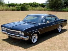 Chevy Impala. So freakin bad ass.