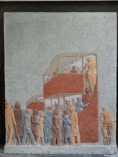 Laszlo Peter Peri, Rush Hour, 1938, private collection - Constructivism, Abstraction, Art, London Life in Concrete Constructivism, Sculpture, Painting, Art, Art Background, Painting Art, Kunst, Sculptures, Paintings