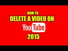 How To DELETE A #YouTube #Video 2015 | How To Delete A Video On YouTube PERMANENTLY For more top YouTube tips visit http://techoist.com/youtube-tips Full Trans...