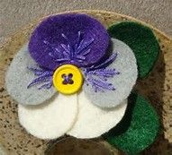 Image result for felt flowers pansy
