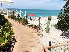 We're just steps away from the beach at The Pearl Beach Inn on Manasota Key Florida!