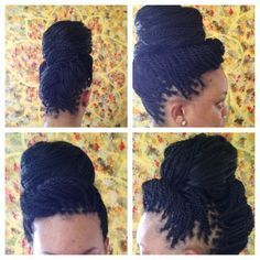All styles of box braids to sublimate her hair afro On long box braids, everything is allowed! For fans of all kinds of buns, Afro braids in XXL bun bun work as well as the low glamorous bun Zoe Kravitz. Box Braids Hairstyles, Twist Hairstyles, African Hairstyles, Cool Hairstyles, Medium Hairstyles, Box Braids Updo, Hairstyle Braid, Long Braids, Formal Hairstyles