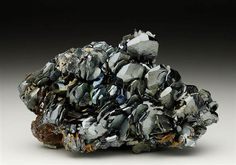 Hematite from the Iron mines at Rio Marina, Elba Island, Italy. Crystal Classics Minerals