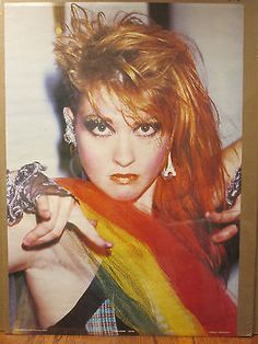 Vintage 1984 Cyndi Lauper original pop star poster 7179