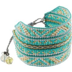 Handcrafted by artisans in Columbia, Mishky boasts an edit of fun bohemian jewelry with an emphasis on social responsibility. This bead-embellished bracelet i…