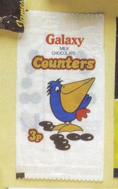 Galaxy Counters by Mars - featuring Percy the Pelican from the 1970s