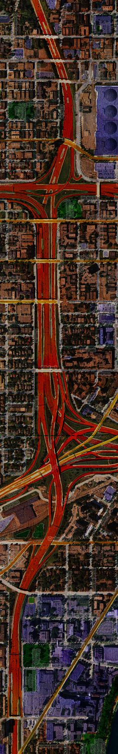 Los Angeles (city not county) was pretty much a blur to me. This however is a very neat representation Aerial Photography, Art Photography, Map Design, Graphic Design, City From Above, Map Globe, Old Maps, Design Graphique, City Maps