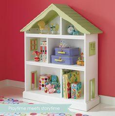 Adorable dollhouse bookcase!