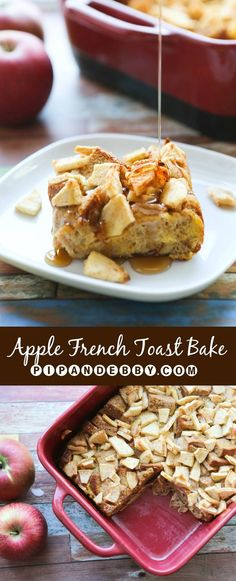 Apple French Toast Bake - you can make and bake or do the overnight option! This is soooo good.