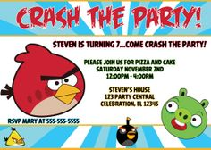 Angry Birds Birthday Party Invitation by stephaniescollection, $9.99