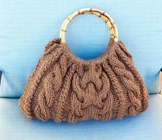 Women handbag.Hand knit bag. Knitted handbag. by FashionShop19