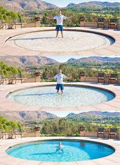 Empresa americana cria piscinas de 1,80 m que desaparecem em 2 minutos