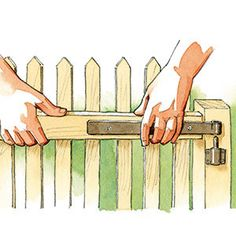 Step by step: how to make a small garden gate Small Garden Gates, Wooden Garden Gate, Garden Gates And Fencing, Garden In The Woods, Permaculture, Garden Planning, Backyard, How To Plan, Deco