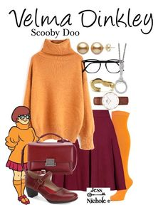 """""""Velma Dinkley"""" by jess-nichole ❤ liked on Polyvore featuring Alice + Olivia, Yves Saint Laurent, SoftWalk, 1928 and Daniel Wellington"""