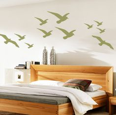 Wall Decals, Wall Stickers by DecalMyWall.com - Birds in Flight Wall Decal Pack, $25.00 (http://www.decalmywall.com/bird-animal-wall-decals/birds-in-flight-wall-decal-pack/)
