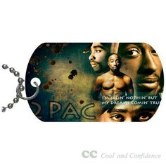 Custom 2pac Pet Dog Tag pendant necklace Chain #DIY