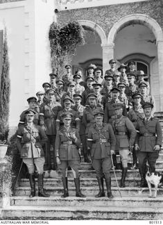 Ottoman Empire: Palestine, Mejdel Jaffa Area, Deiran, 19 November Headquarters staff of the Desert Mounted Corps on the steps of the house of Lazar Slutzkin, where they were based. by Frank Hurley Palestine History, Israel History, Jewish History, Israel Palestine, World War One, First World, Old Pictures, Old Photos, Hurley