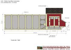 home garden plans: L102 - Chicken Coop Plans Construction - Chicken Coop Design - How To Build A Chicken Coop Chicken Coop Designs, Chicken Coop Plans, Building A Chicken Run, Architectural Shingles, Chicken Runs, Nesting Boxes, Coops, Garden Planning, Home And Garden