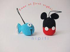 Crochet keychain FISH Amigurumi Keyring Party Favor by nipiti