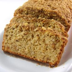 Peanut Butter Bread with Streusel Topping #recipe #yum
