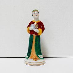 Vintage Ceramic Oriental Man Figurine Made in by FairfaxDavis
