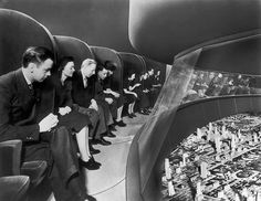 """Wired has a dandy appreciation of the """"World of Tomorrow"""" exhibit at the 1939 World's Fair, the birthplace of the dark ride (the """"Futurama,"""" which motored you past enormous dioramae depicting the domed-city tomorrow)."""