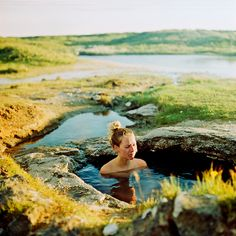 Iceland..the best hot pools ever! Landbrotalaug, Iceland