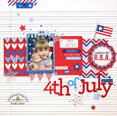 Layout: 4th of July By Kathy Shou featuring Patriotic Picnic by Doodlebug Design