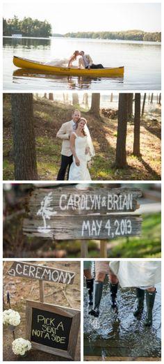 Lakeside Wedding Ideas.  photos:GreenAutumn photography