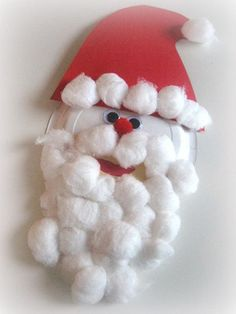 Paper Plate Santa Craft For Kids - No Time For Flash Cards