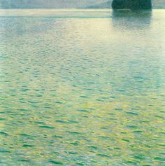 Island in the Attersee by @artistgklimt #symbolism