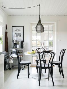 white dining room +