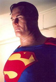 Alex Ross Superman so real Comic Book Artists, Comic Book Characters, Comic Character, Comic Books Art, Comic Art, Alex Ross, Clark Kent, Batman Christian Bale, Mundo Superman