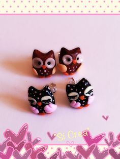 Owls lasts colors. Handmade. Fimo Creazioni <3