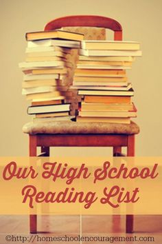 High School Reading List - what will you have your students read? This is our list -- classic books, great literature, and important books about our faith we think our kid should read before they graduate.  Many of these books are free on Kindle!