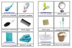 Cartes nomenclature à imprimer - la salle de bain