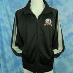 Hell's Kitchen 31 Men's Large Track Jacket Black Embroidered Skull Full Zip Chef #Parts #Track