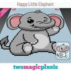 Mom And Baby Elephant, Little Elephant, C2c Crochet, Bobble Stitch, Yarn Brands, Yarn Colors, Hama Beads, Cross Stitching, Crochet Projects