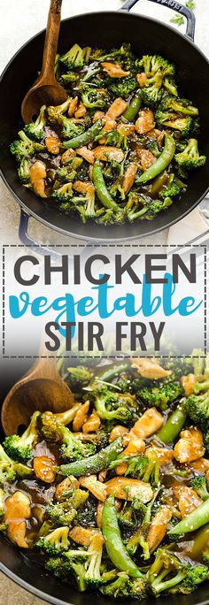 Chicken with Broccoli and Snap Peas Stir-Fry is the perfect easy weeknight meal. Best of all, this recipe comes together in under 30 minutes with your favorite vegetables and sticky and savory Asian sauce. Great for Sunday meal prep for work or school lunchboxes or lunch bowls. Full of flavor and way better than takeout!