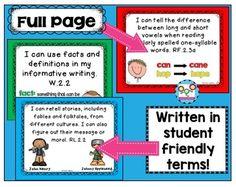 I Can Statements 2nd Grade ELA, Printable Download
