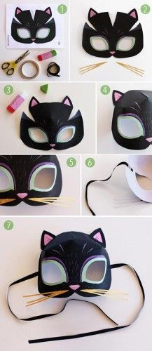 How to make a paper cat mask: Animal mask templates to print!