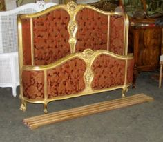 Gorgeous French Gilded French Louis XV Corbeille Full Bed | eBay