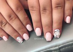Nude butterfly nails