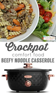 Crockpot Beefy Noodle Casserole |Comfort Food | TodaysCreativeBlog