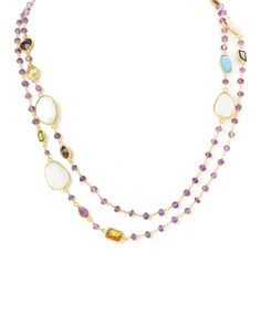 """Rivka Friedman """"Felix and Lola"""" 14K Over Silver Gemstone 41in Necklace is on Rue. Shop it now."""
