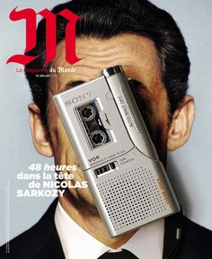 M Le Magazine du Monde (Paris, France). 'Forty-eight hours in the head of Nicolas Sarkozy'. Magazine Wall, Cool Magazine, Magazine Layouts, Id Cover, Cover Art, Typography Magazine, Magazine Cover Design, Magazine Covers, Editorial Design