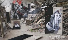 'The Doors of Perception' by MTO (www.facebook.com/mto.page) in collaboration with IEMZA in an abandoned spot in Reims, France.